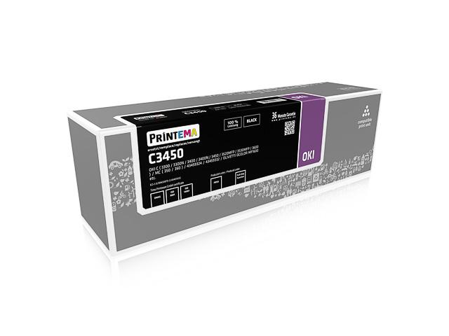 PT20180 P.TEM OKI C 3450 BLACK 2500Seiten 5%Deckung